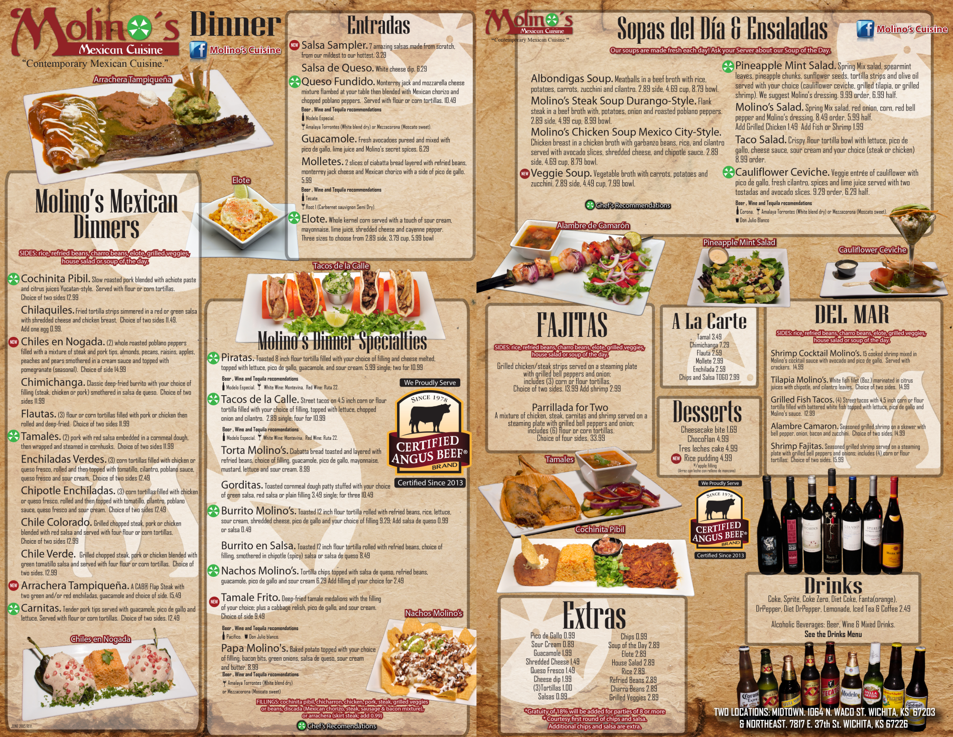 Molinos Mexican Cuisine Make Your Reservation Order Online