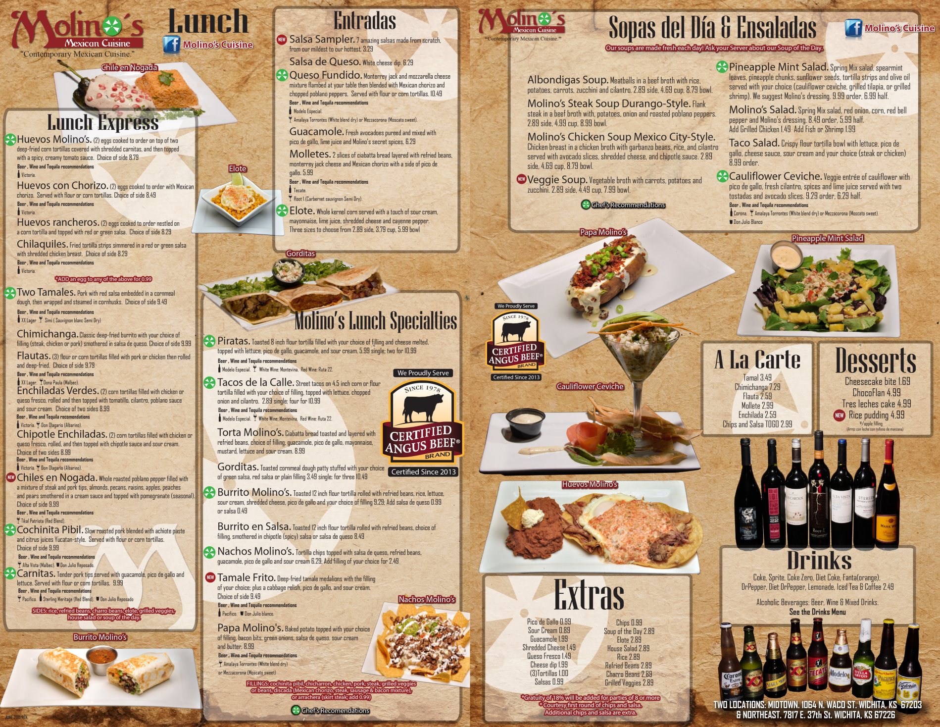 Taste City Restaurant Menu